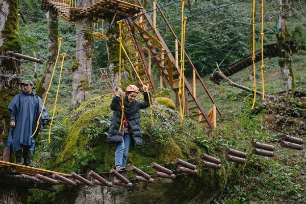 New rope adventure attraction opens in Mtirala National Park